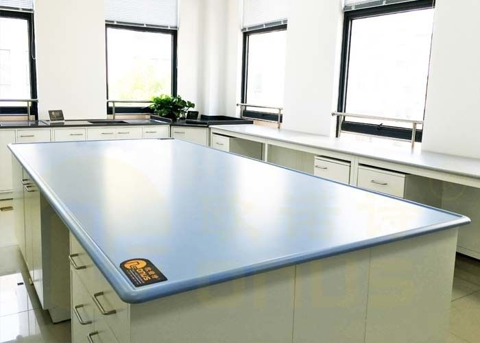 Blue / Customized Color Chemical Resistant Table Tops Island Bench Type